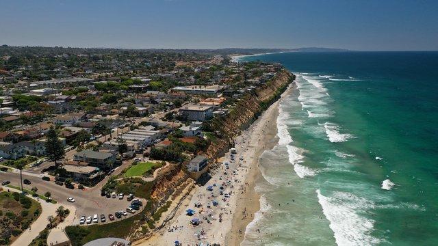 Solana Beach, Southern California Aerial Photography