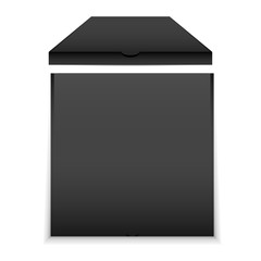Black Blank Pizza Box Mockup