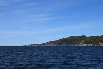 shoreline  along the Bonne Bay in the Gros Morne National Park, Newfoundland and Labrador Canada