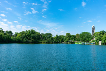 Quarry Lake in Naperville Illinois near the Riverwalk during Summer Wall mural