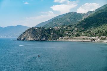 Wall Mural - Nature sea landscape at Cinque Terre, Liguria seascape, Italy