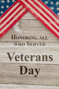 Veterans Day greeting