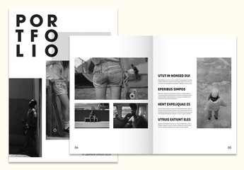 Black and White Portfolio Layout