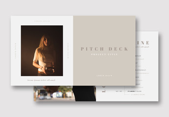 Pitch Deck Layout with Neutral Colors