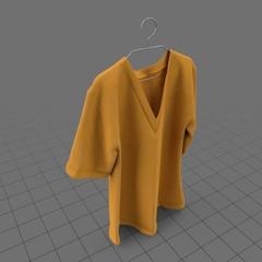 V neck t shirt on hanger