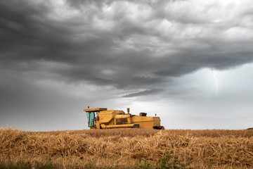 combine in action before the storm