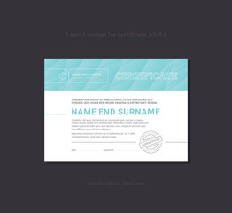 Certificate of Completion. Business document templates. Vector.