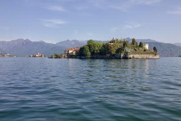 Maggiore lake view, Island Isola Bella, Italy, Lombardy
