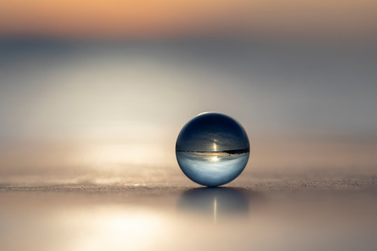 Glass transparent ball and Landscape