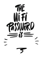 Wifi password poster