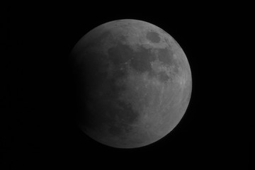 Lunar Eclipse July 2019, starting phase on full Moon, taken in the deep space.