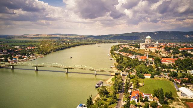 View from Esztergom Basilica is an ecclesiastic basilica in Esztergom, Hungary