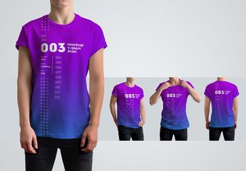 T-Shirt Mockup with 4 Views