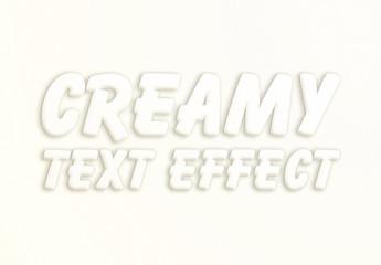 White Creamy Text Effect