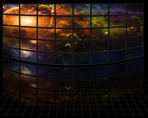 Fototapete - Galaxies and stars