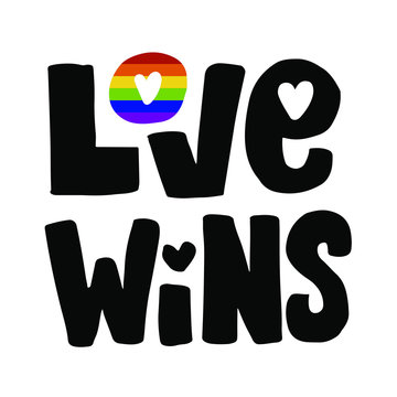 Love wins hand drawn lettering