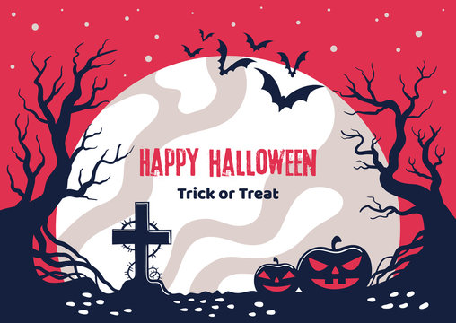 Scary poster on Halloween holiday.