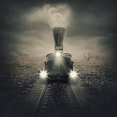 Obraz Old mystical train - fototapety do salonu