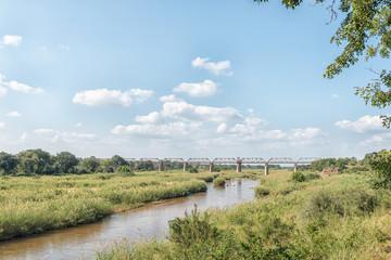 Railroad bridge over the Sabie River at Skukuza
