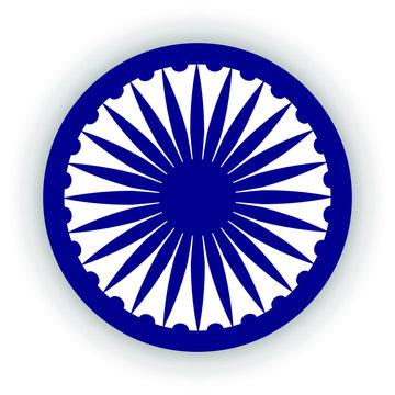 Blue Ashoka Wheel Indian symbol - Ashoka Chakra