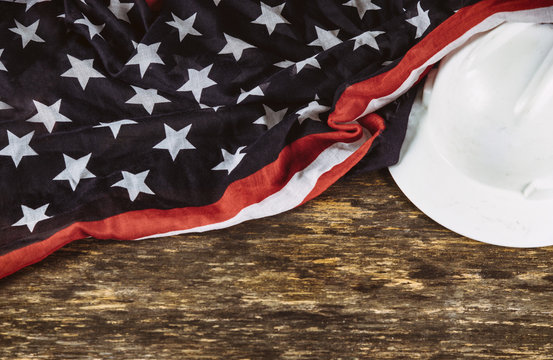 Labor Day is a federal holiday of United States America top view with copy space for use design