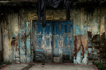 Door in old house