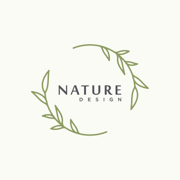 nature tree branch leaf vector icon illustration logo design