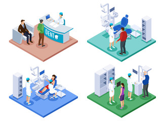 Dentist Appointment Isometric Concept