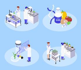 Bio Engineering Isometric Concept