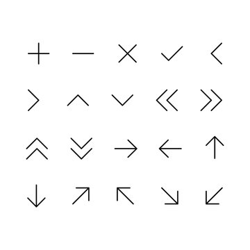 Arrow vector icon set for the website and app