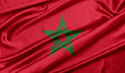 Foto op Aluminium Marokko Morocco flag