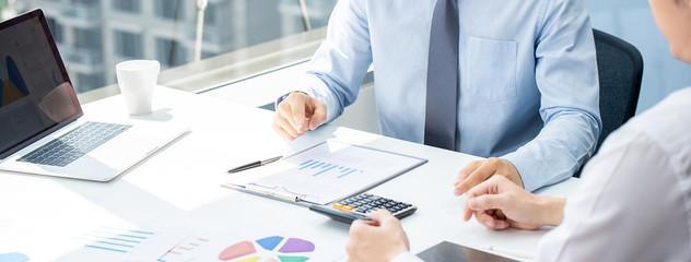 Fototapeta Business partner in sales strategy meeting obraz