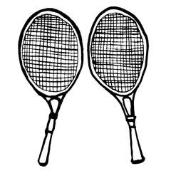 テニスラケット 手書きイラスト