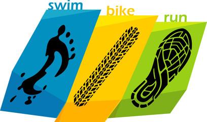 Triathlon Abstract Artwork