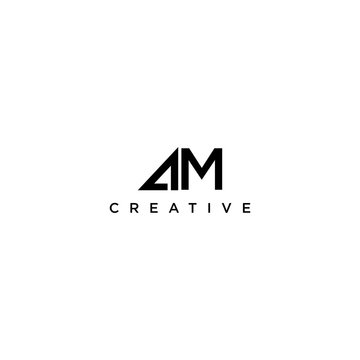 letter AM. logo design vector icon template