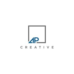 letter AP  logo design vector icon template