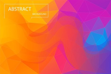 Bright colorful geometric background. Gradient vibrant color abstract.