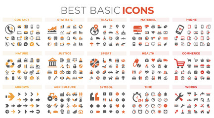 Basic icons	 Wall mural