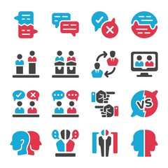 debate and dispute icon set,vector and illustration