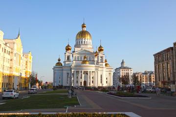 Fotorolgordijn Berlijn Russia. Saransk city. The cathedral of St. Warrior Theodor Ushakov