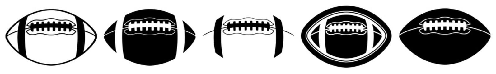 American Football | Ball | Emblem | Logo | Variations Fototapete