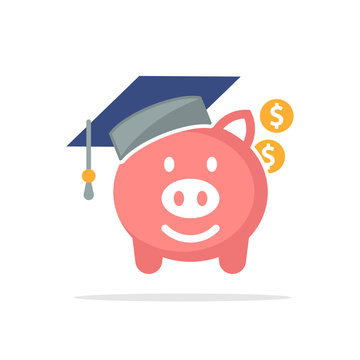 Illustration icon with the concept of education fund savings