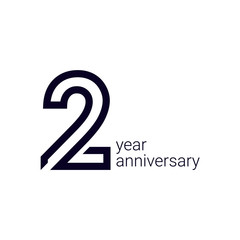 Fototapeta 2 Year Anniversary Celebration Vector Template Design Illustration obraz