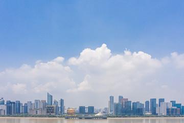 Poster Tokyo panoramic city skyline in hangzhou china