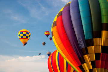 Hot air balloons in the sky.