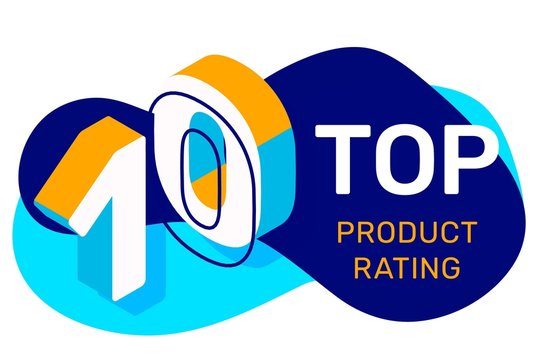 Vector creative illustration of top ten with abstract shape and