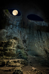 Prohodna cave, Bulgaria. It is nown as God's eyes. Located near Karlukovo village