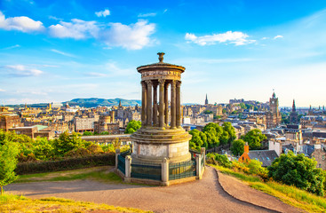 Wall Mural - Calton Hill and Edinburgh city view