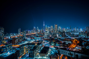 Foto op Aluminium Toronto Toronto Cityscape from Distillery District