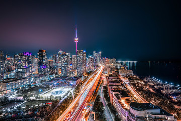 Toronto Night Skyline Looking East